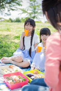 ピクニックをする家族の写真素材 [FYI00922620]