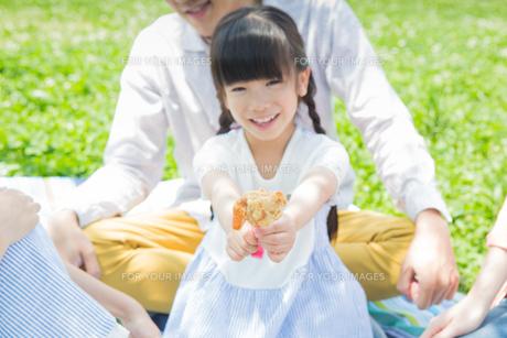 ピクニックをする家族の写真素材 [FYI00922647]