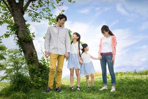ピクニックをする家族の写真素材 [FYI00922648]