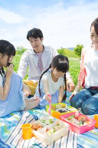 ピクニックをする家族の写真素材 [FYI00922650]