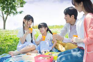 ピクニックをする家族の写真素材 [FYI00922661]