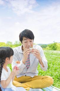 ピクニックをする家族の写真素材 [FYI00922667]