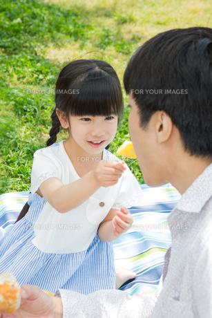 ピクニックをする家族の写真素材 [FYI00922670]
