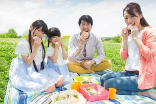 ピクニックをする家族の写真素材 [FYI00922686]