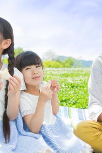 ピクニックをする家族の写真素材 [FYI00922703]