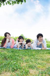 ピクニックをする家族の写真素材 [FYI00922708]