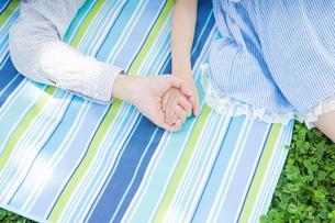 ピクニックをする家族の写真素材 [FYI00922711]