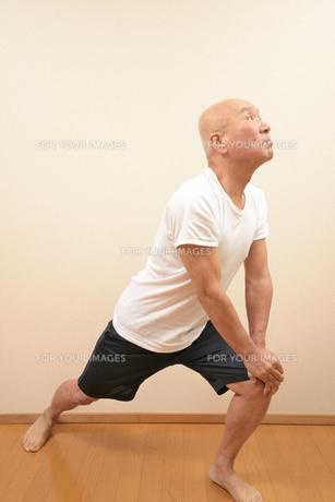 シニアの体操の写真素材 [FYI00923025]