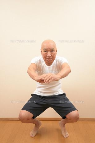 シニアの体操の写真素材 [FYI00923027]