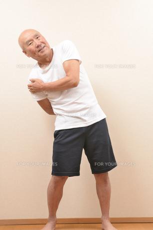 シニアの体操の写真素材 [FYI00923035]