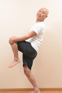 シニアの体操の写真素材 [FYI00923037]