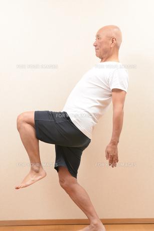 シニアの体操の写真素材 [FYI00923042]
