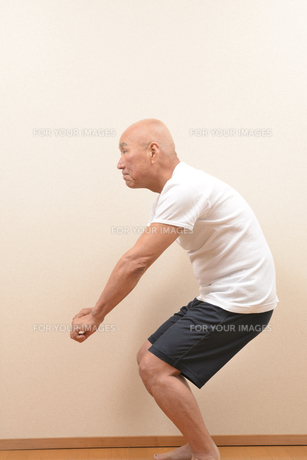 シニアの体操の写真素材 [FYI00923045]