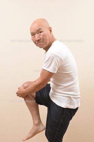 シニアの体操の写真素材 [FYI00923049]