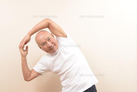 シニアの体操の写真素材 [FYI00923051]