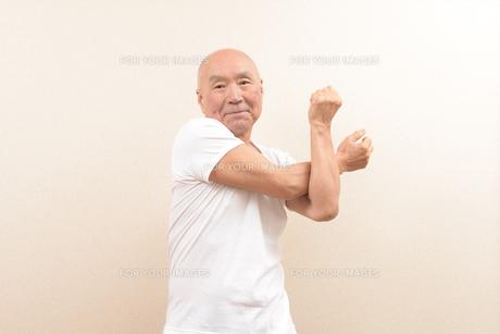 シニアの体操の写真素材 [FYI00923054]