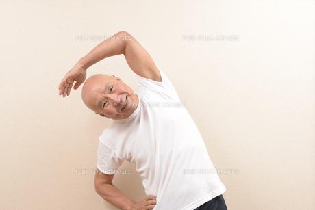 シニアの体操の写真素材 [FYI00923061]