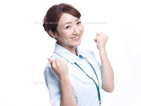 ガッツポーズ 医療従事者の写真素材 [FYI00924025]