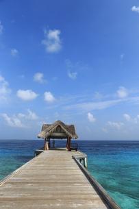モルディブの海と桟橋の素材 [FYI00933581]