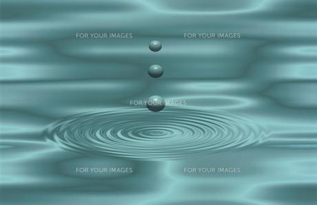 水滴と渦の素材 [FYI00939839]