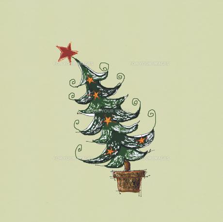 傾いたクリスマスツリーの素材 [FYI00940130]
