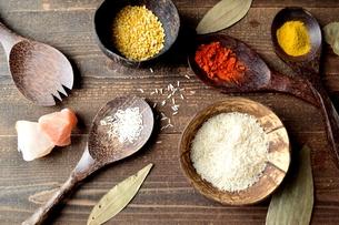 スパイスとインド料理の食材の写真素材 [FYI00941669]