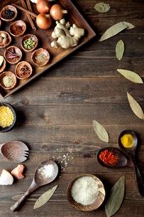 スパイスとインド料理の食材の写真素材 [FYI00941671]