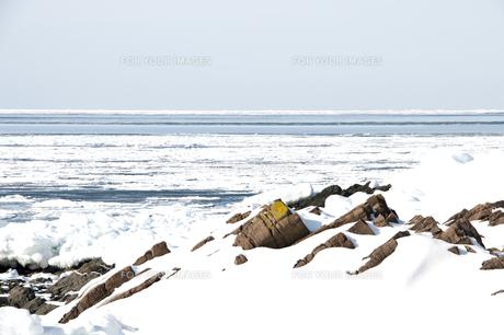 接岸した流氷の写真素材 [FYI00942075]