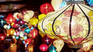 ランタン祭り ホイアンの写真素材 [FYI00942232]