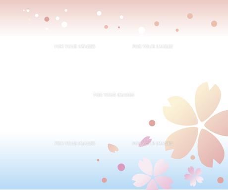 桜の淡い背景のイラスト素材 [FYI00942268]