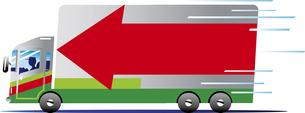 宅配便のトラックのイラスト素材 [FYI00942269]