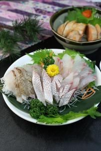 鯛の刺身の写真素材 [FYI00942322]