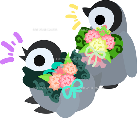 おしゃれで可愛い赤ちゃんペンギンのイラストのイラスト素材 [FYI00942332]