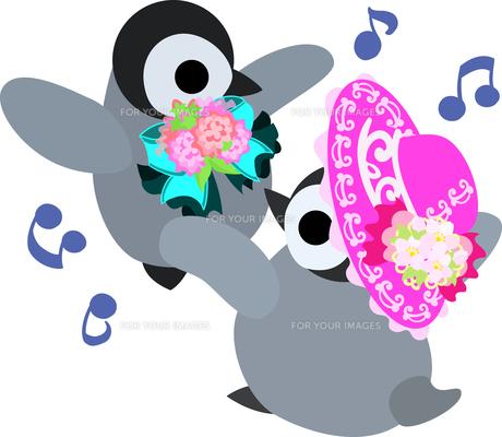 おしゃれで可愛い赤ちゃんペンギンのイラストのイラスト素材 [FYI00942333]