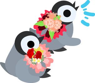 おしゃれで可愛い赤ちゃんペンギンのイラストのイラスト素材 [FYI00942334]