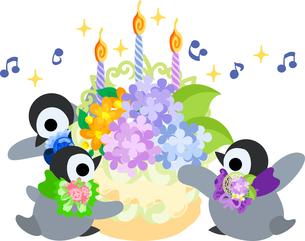 おしゃれで可愛い赤ちゃんペンギンのイラストのイラスト素材 [FYI00942339]