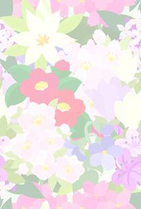 色々な花で作られたテクスチャのイラスト素材 [FYI00942544]