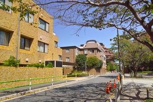 東京都港区元麻布の住宅街の景観の写真素材 [FYI00942651]