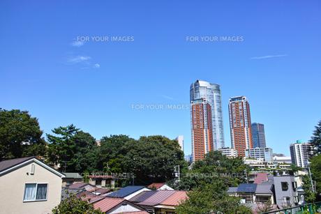 東京都港区元麻布の高台から見た六本木方面の景観の写真素材 [FYI00942652]