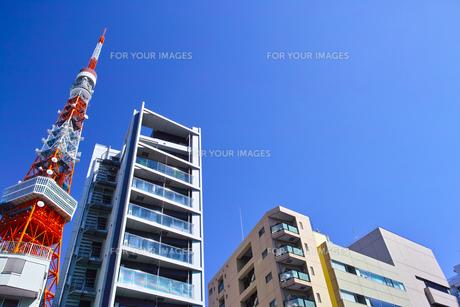 東京都港区東麻布、国道1号線からマンション群の写真素材 [FYI00942659]