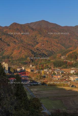 秋の群馬県の風景の写真素材 [FYI00942669]