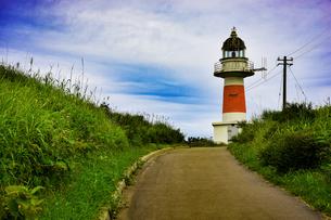 山の上の灯台の写真素材 [FYI00942715]