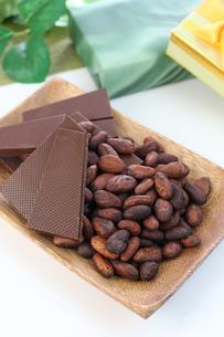 カカオ豆とチョコレートの写真素材 [FYI00942902]
