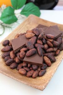 カカオ豆とチョコレートの写真素材 [FYI00942905]
