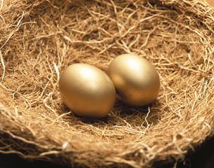 金色の卵と巣の素材 [FYI00943737]