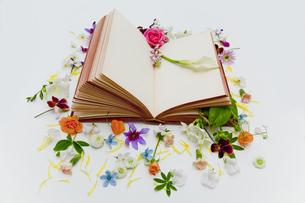 本に花を飾るの素材 [FYI00945051]