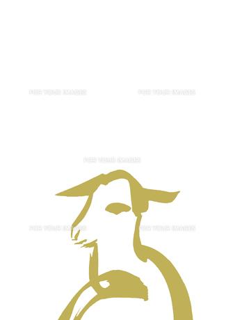 無地下側淡い金色羊の素材 [FYI00945452]