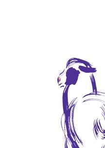 無地紫色羊の素材 [FYI00945483]
