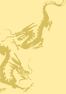 二匹の龍の素材 [FYI00945507]