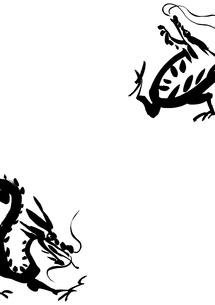 二匹の龍の素材 [FYI00945509]